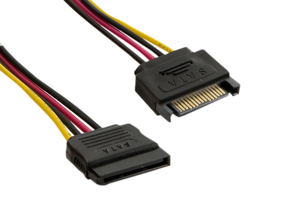 4World Kabel SATA 15pin F - SATA 15pin M 19cm