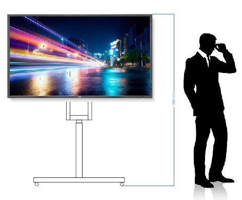 Elektrický stojan zvedací - mobilní pojezd pro LCD