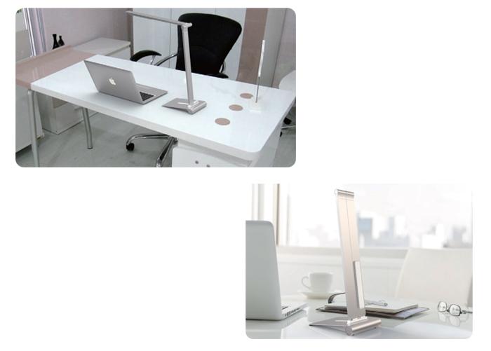 LED stolní lampa iPost 8w, natural, stříbrná