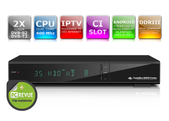 AB Cryptobox 652HD Combo DVB-T2/S2