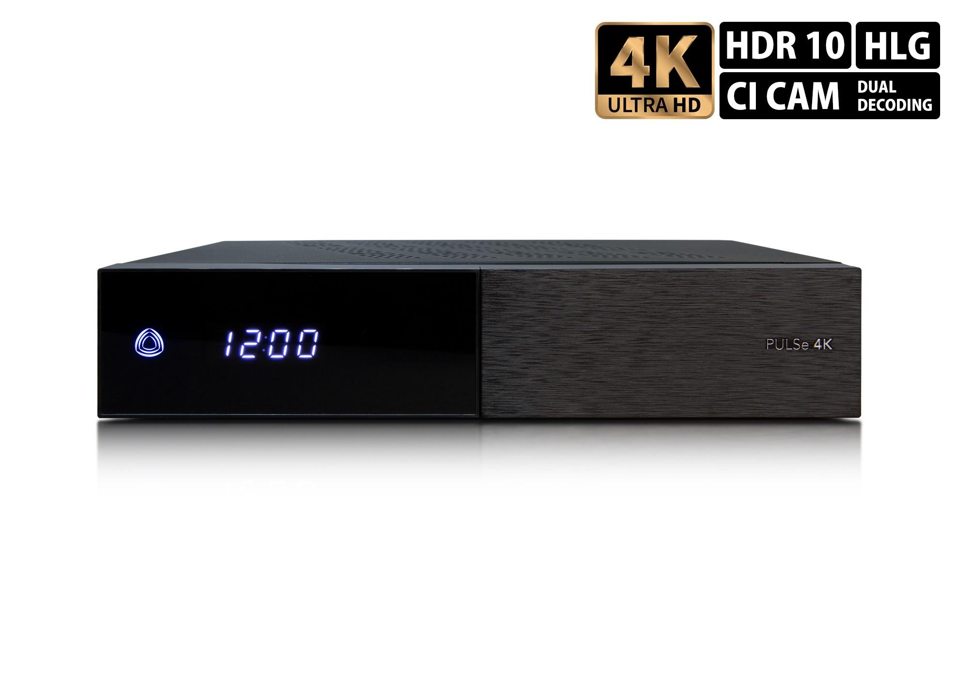 AB PULSe 4K (1x tuner DVB-S2X + 1x tuner DVB-T2/C) - AB PULSE 4K 1XS2X+T2