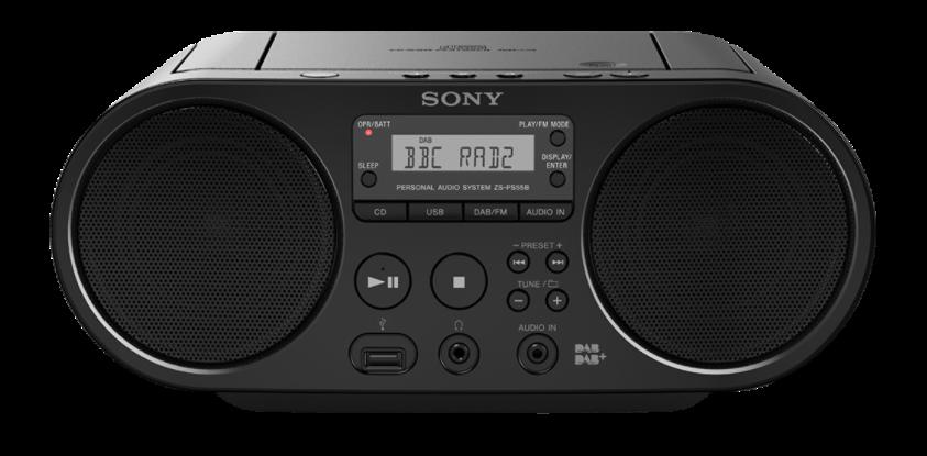 Sony mp3/CD/Radio přehrávač ZS-PS50CP,černý