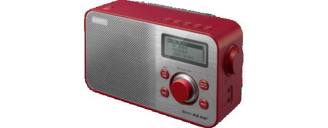 Sony radiopřijímač XDR-S60DBP DAB tuner červený