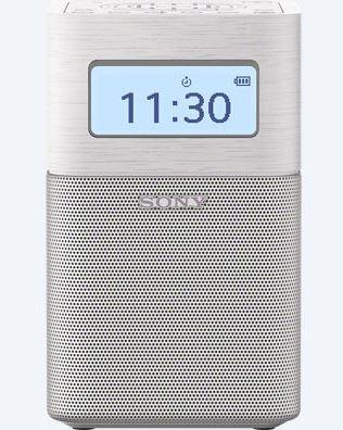 Sony rádio SRF-V1BT, přenosné, BT/NFC, vest. baterie, bílá