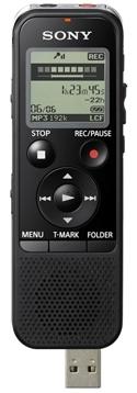 Sony dig. diktafon ICD-PX440,černý,4GB,USB,mSD