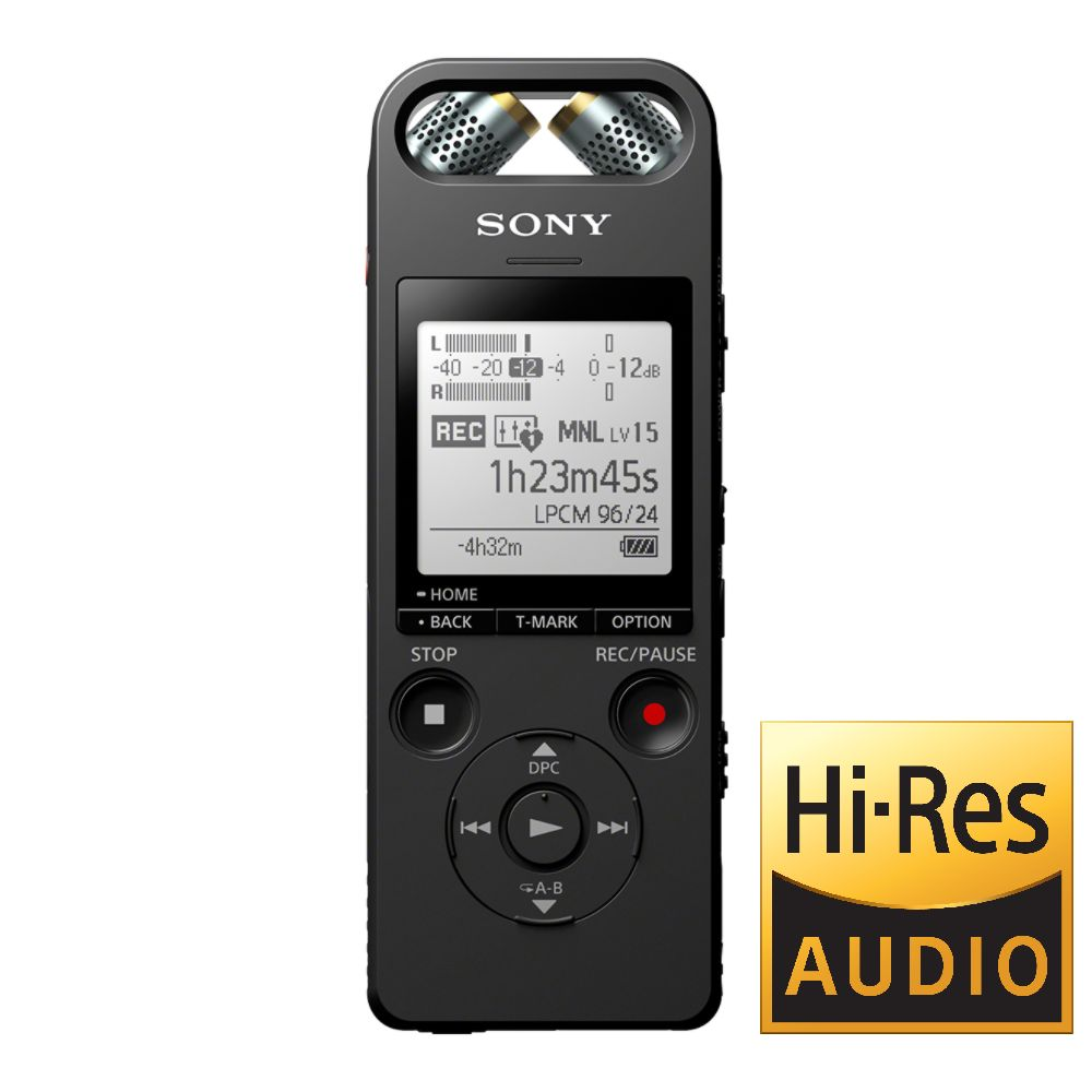 Sony dig. diktafon ICD-SX2000,černý,16GB,USB,mSD