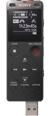 Sony dig. diktafon ICD-UX560,černý,4GB,USB,mSD