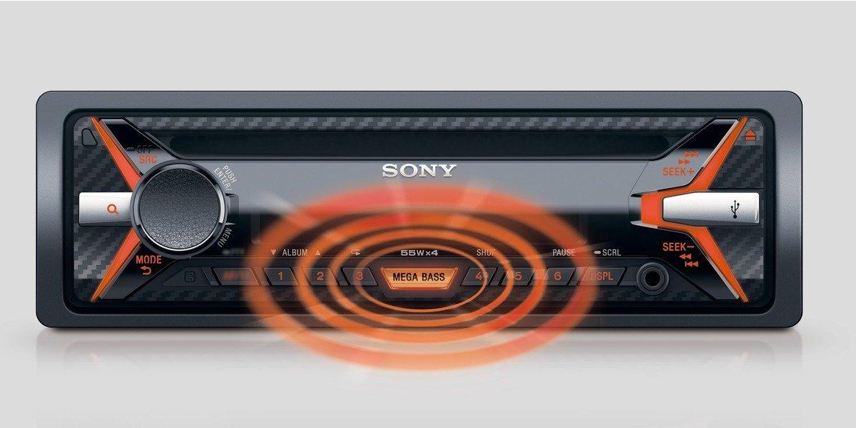 Sony autorádio CDX-G1101U CD/MP3,USB/AUX,oranžové