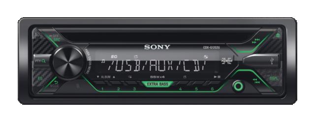 Sony autorádio CDX-G1202U CD/MP3,USB/AUX, zelená