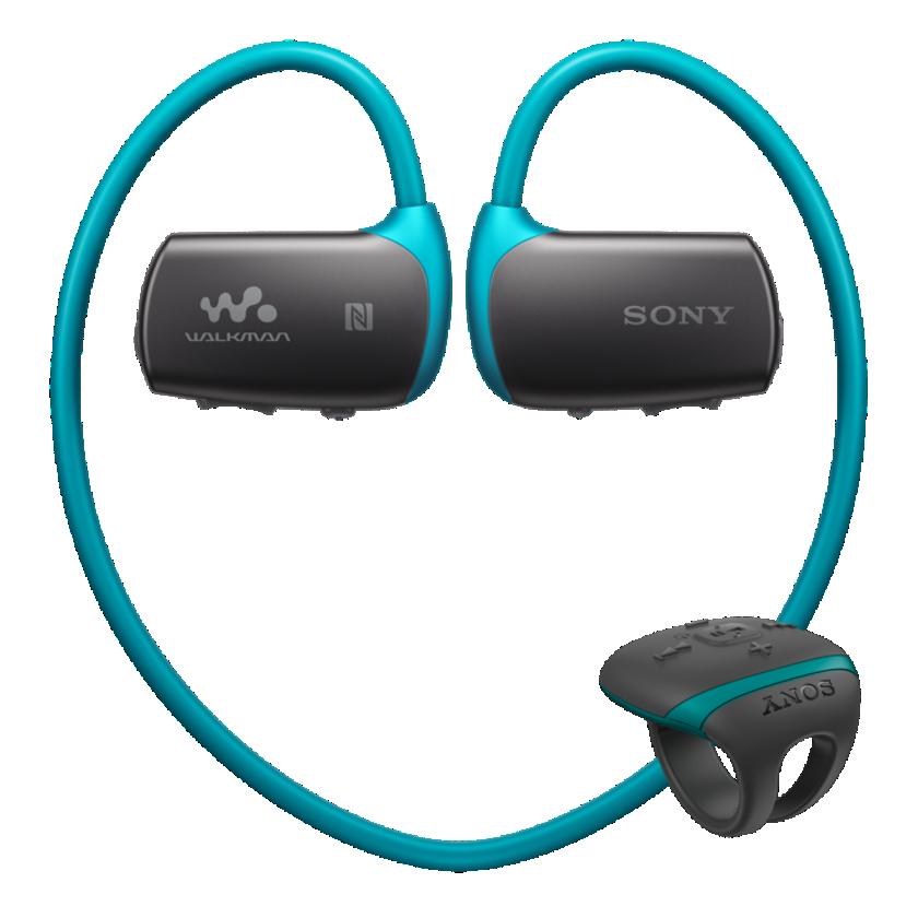 Sony MP3 přehrávač 4 GB NWZ-WS613 modrý,voděodolný