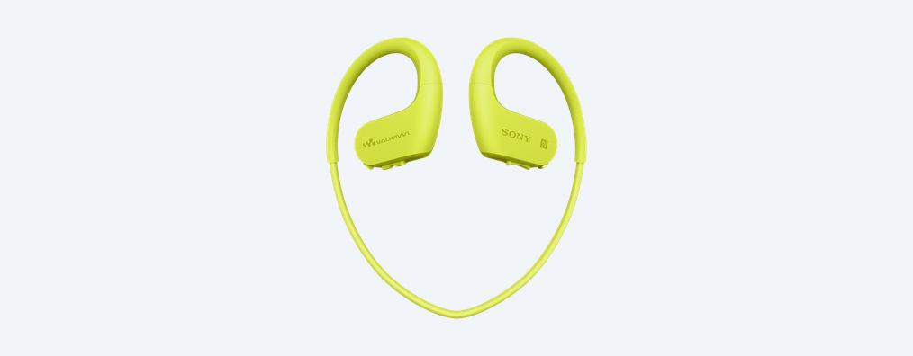 Sony MP3 přehrávač 4 GB NW-WS623 limetkový,voděod.