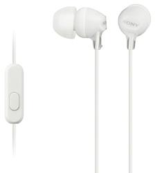 SONY sluchátka MDR-EX15AP, handsfree, bílé