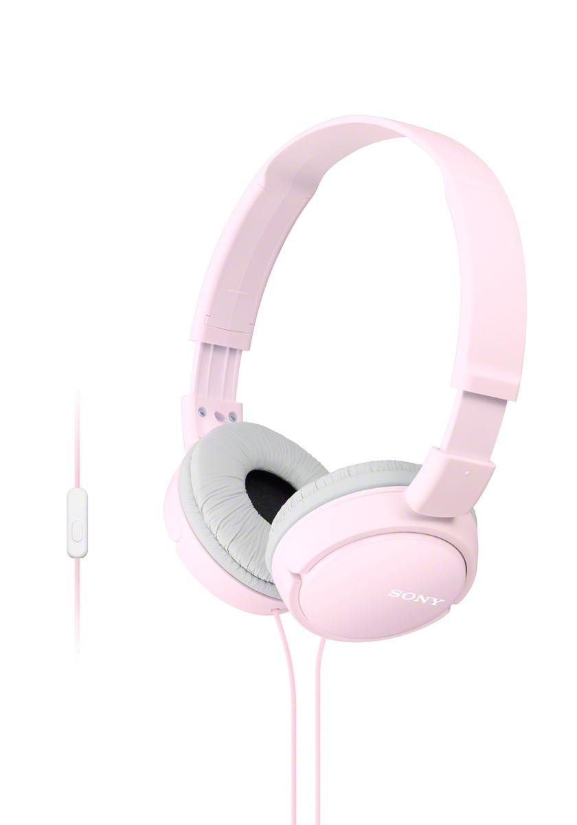 SONY sluchátka MDR-ZX110AP handsfree, růžové
