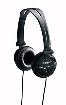 SONY Sluchátka EXTRA BASS & DJ type MDR-V150 černá