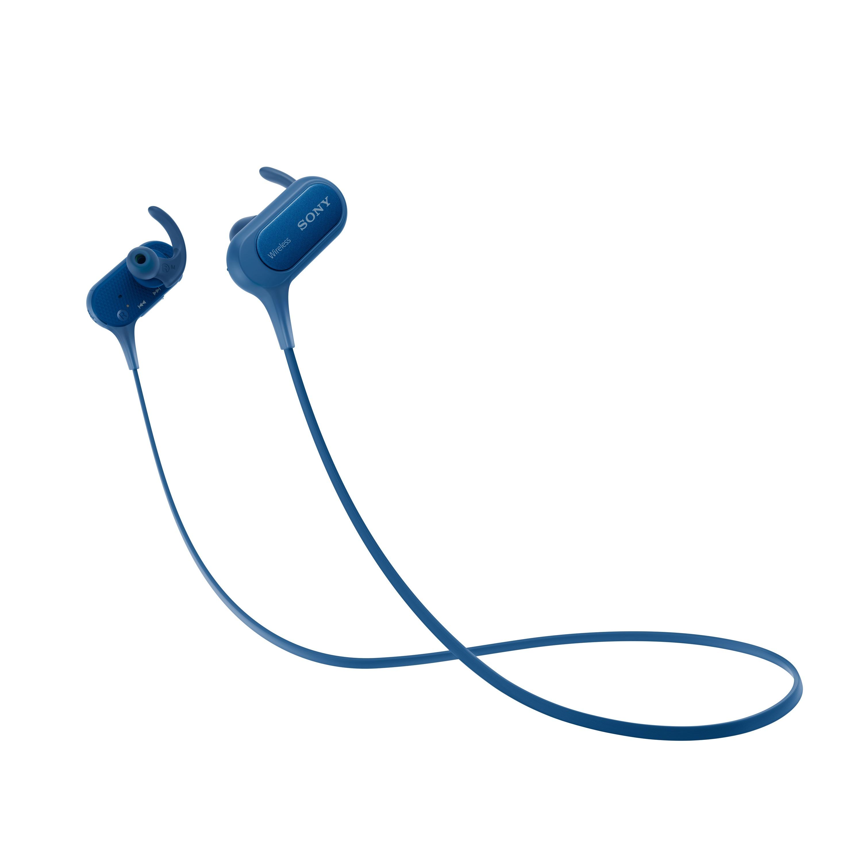 SONY Sluchátka ACTIVE MDR-XB50BS,handsfree,modrá