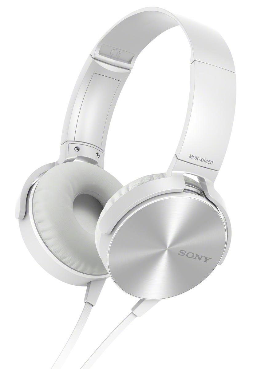 SONY X bass sluchátka MDR-XB450AP handsfree bílá