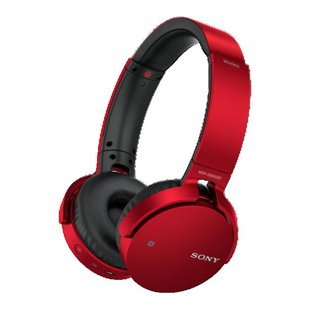 SONY sluchátka MDR-XB650BT bezdr.handsfr, červené