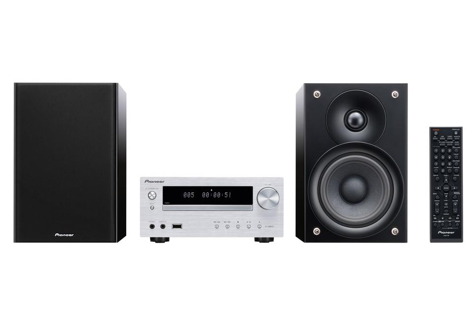 Pioneer HiFi systém s CD, USB, BT stříbrný