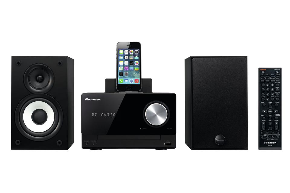 Pioneer systém s CD,USB,BT a dockem, černý
