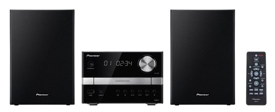 Pioneer systém s CD, USB, černostříbrný