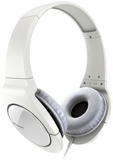 Pioneer stylová sluchátka bílá