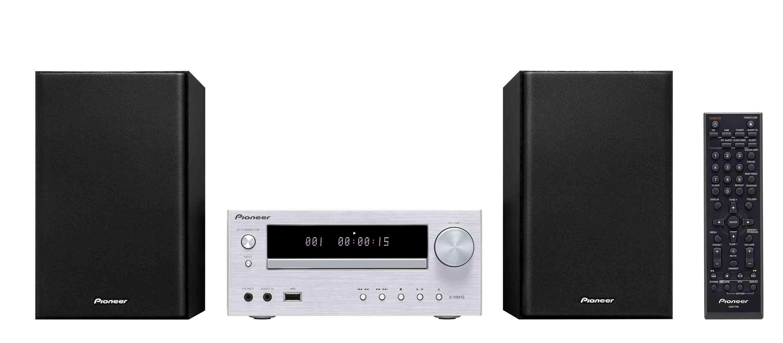 Pioneer mikro systém s CD, USB, stříbrný