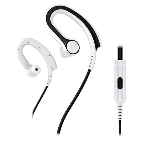 Pioneer závěsná sluchátka s ovládáním bílá