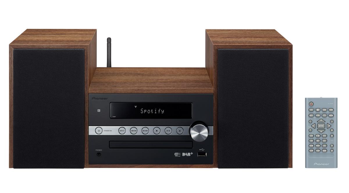 Pioneer systém s CD, USB, BT, NFC, DAB,Wi-Fi černý