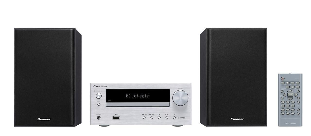 Pioneer mikro systém s CD, USB, BT, DAB stříbrný