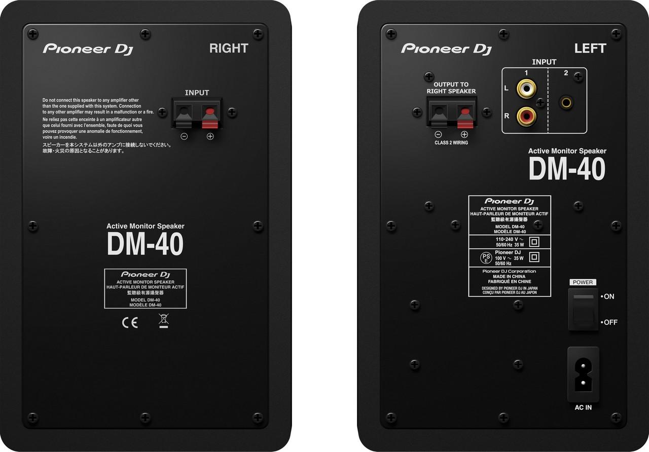 Pioneer DJ DM-40 2.pás. reproduktory černé - DM-40