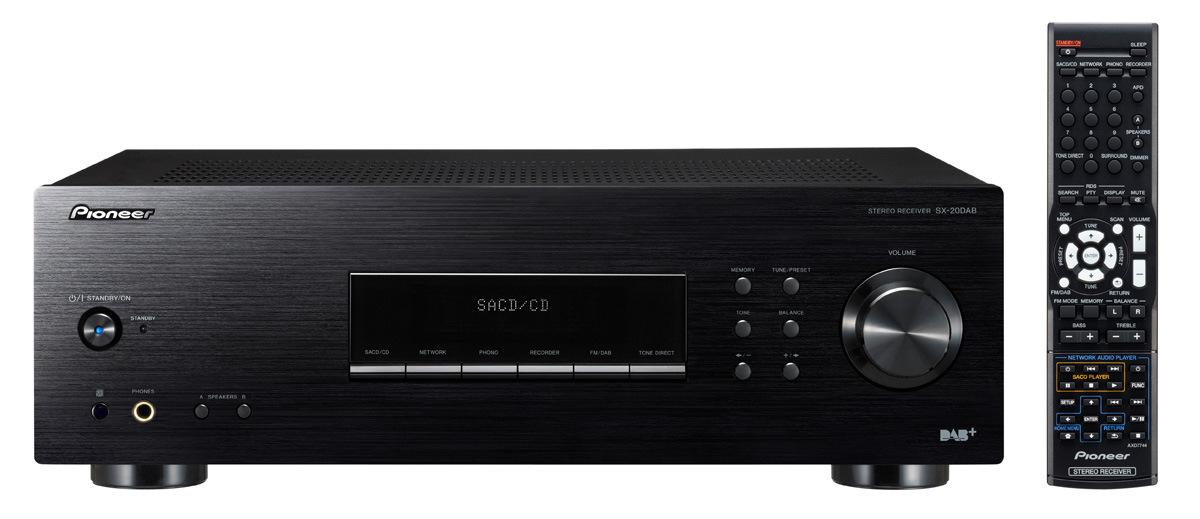 Pioneer audio přijímač 2.0, DAB černý