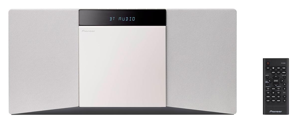 Pioneer slim mikro systém s CD, USB, BT, DAB bílý
