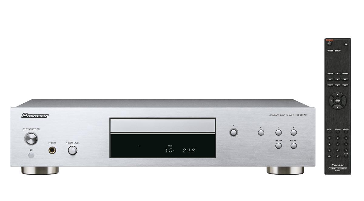 Pioneer audio CD přehrávač, výstup pro sluchátka stříbrný