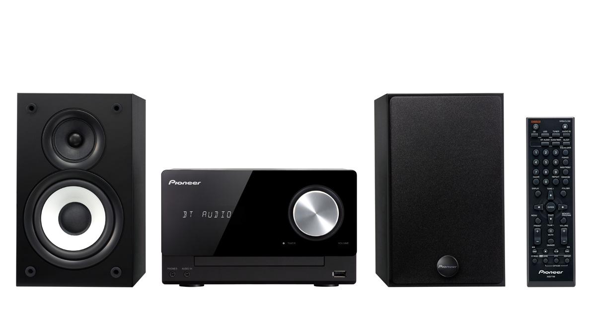 Pioneer mikro systém CD, USB, BT, DAB černý