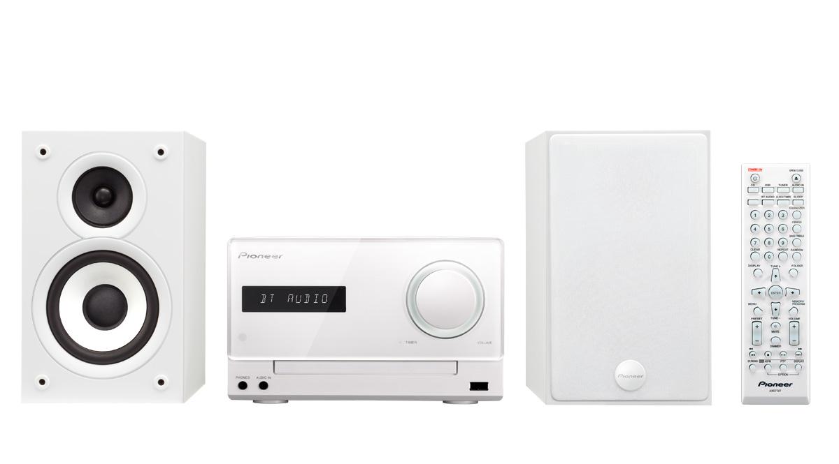 Pioneer mikro systém CD, USB, BT, DAB bílý