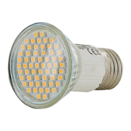 WE LED žárovka 60xSMD E27 3W 180L teplá bílá
