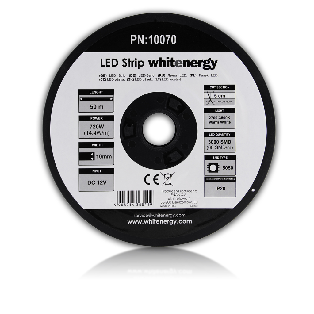 WE LED páska 50m SMD5050 14.4W/m 10mm teplá bílá - 10070