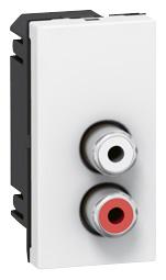 MOSAIC audio zásuvka 2 RCA 1m