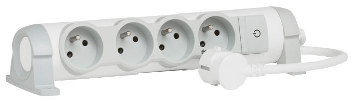 Prodlužovací přívod s vyp. 4x2P+T, 1,5M - 50075