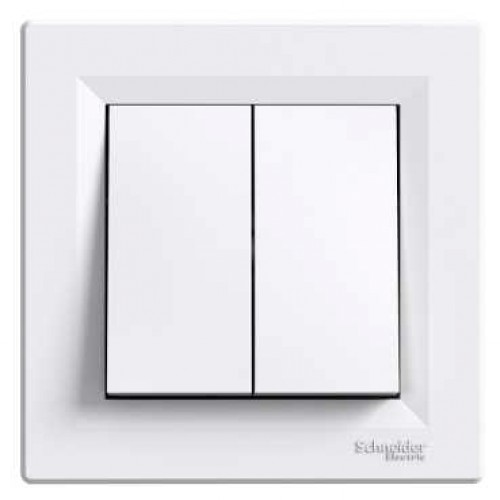 Asfora - Přepínač sériový, ř.5, bezšroubový - bílá - EPH0300121