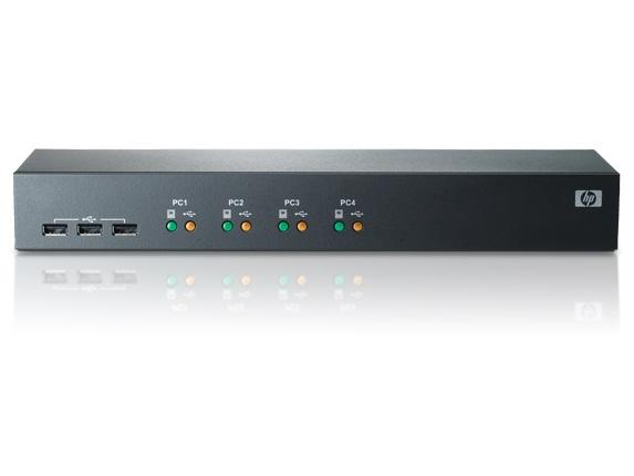 HP 1x4 USB/PS2 KVM Cnsl Switch
