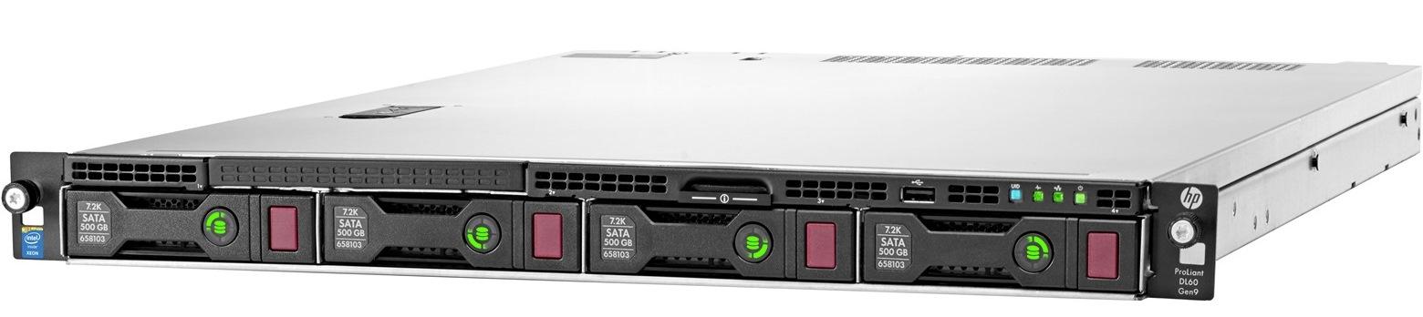 HP DL60 Gen9 E5-2603v3, 4GB, 4 NHP, B140