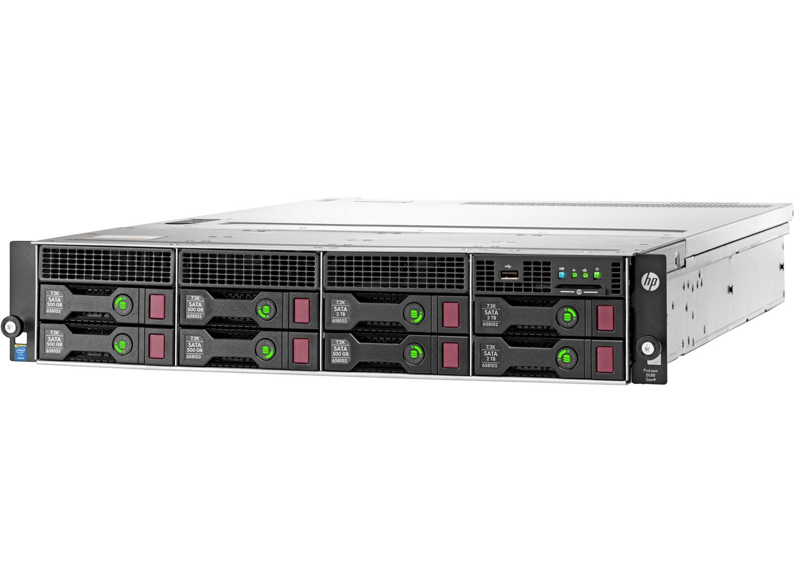 HP DL80 Gen9 E5-2603v3, 4GB, 8 LFF, B140