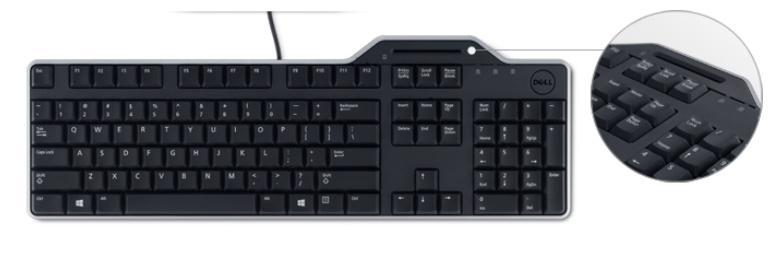 Dell klávesnice se čtečkou Smart karet KB-813 (čipových karet) , CZ