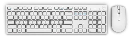 Dell KM636 bezdrátová klávesnice a myš US+International, bílá
