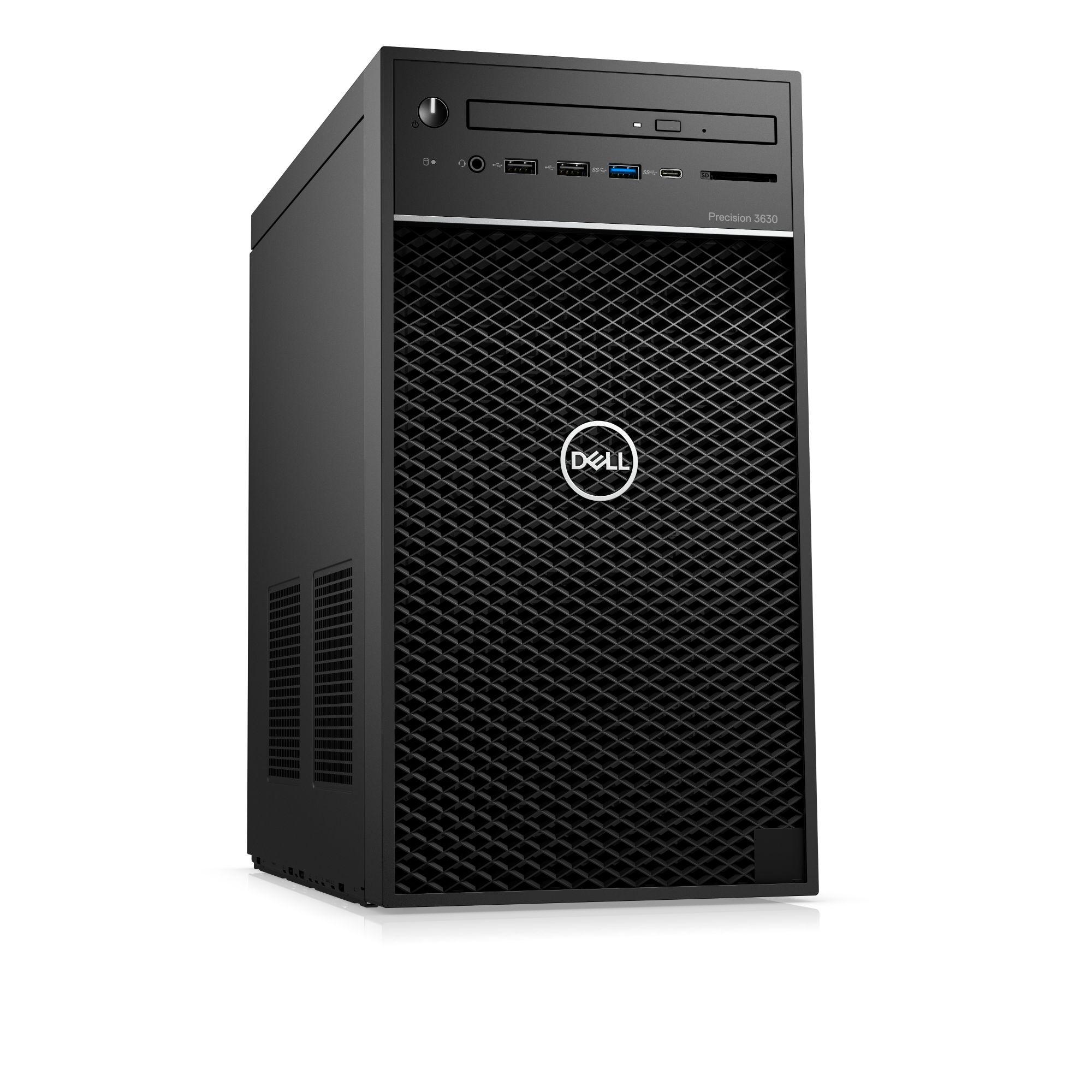 Dell Precision T3630 E-2146G/16GB/256GB SSD+1TB/P2000-5GB/USB-C/DP/W10P/3RNBD/Černý