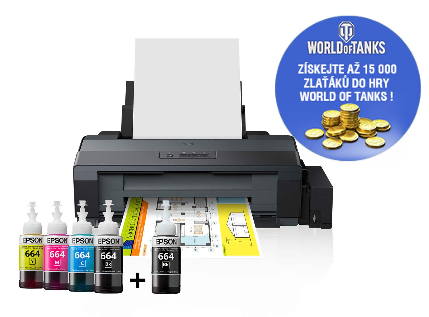 EPSON L1300, A3+, 30 ppm, 4 ink ITS - C11CD81401