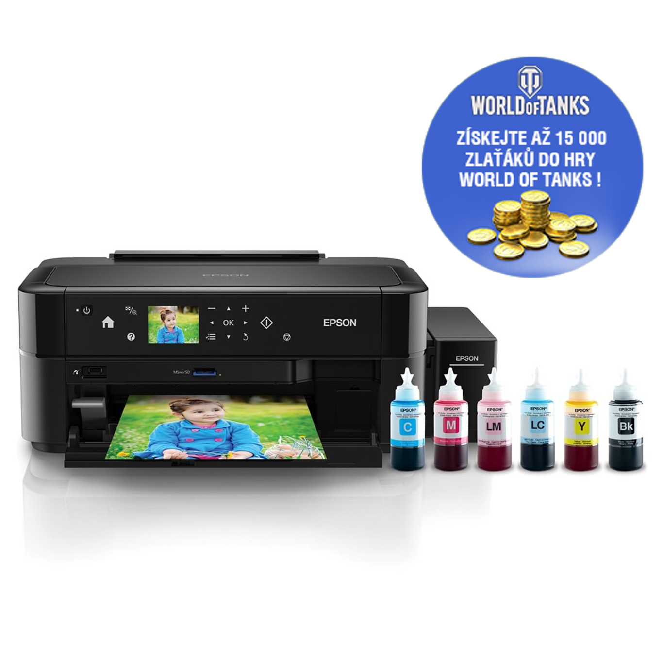 EPSON L810, A4, 5.760 x 1.440, 5 ppm, 6 ink ITS - C11CE32401