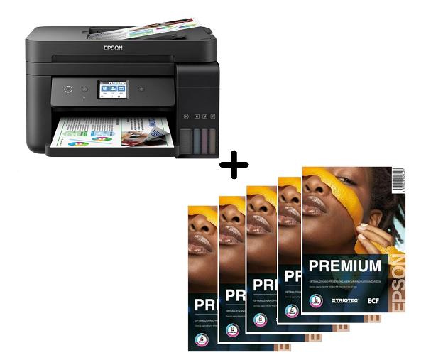 Epson L6190, A4,4800x1200 dpi, 33/20 ppm, Wifi + 2500 listů papíru