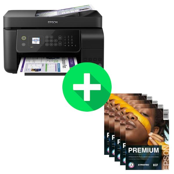 Epson L5190, A4, Wi-Fi All-in-One Ink Printer, 33p + 2500 listů papíru